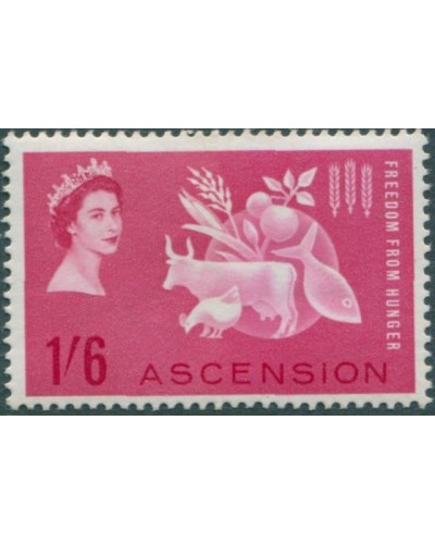 Ascension 1963 SG84 1/6d Freedom From Hunger MLH