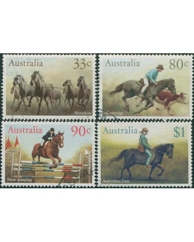 Australia 1986 SG1010 Horses set of 4 FU