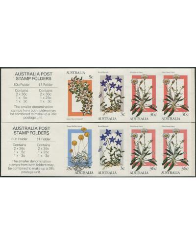 Australia 1986 SG1028 Alpine Wildflowers both booklets MNH