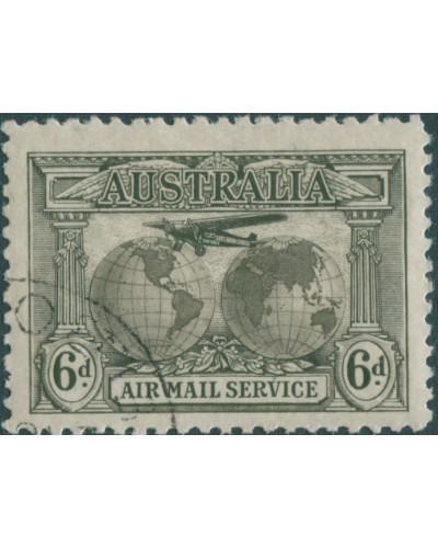 Australia 1931 Sc#C3,SG139 6d Air Mail CTO