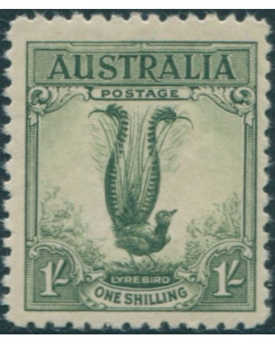 Australia 1932 Sc#141,SG140 1/-green Large Lyrebird MNH