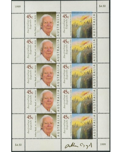 Australia 1999 SG1838 Arthur Boyd sheetlet of 10 MNH