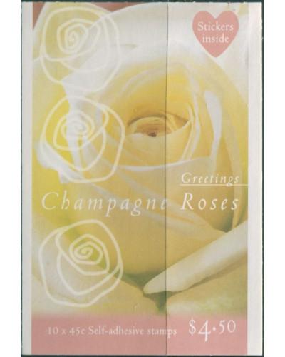 Australia booklet 1998 SG1755 45c Champagne Roses MNH