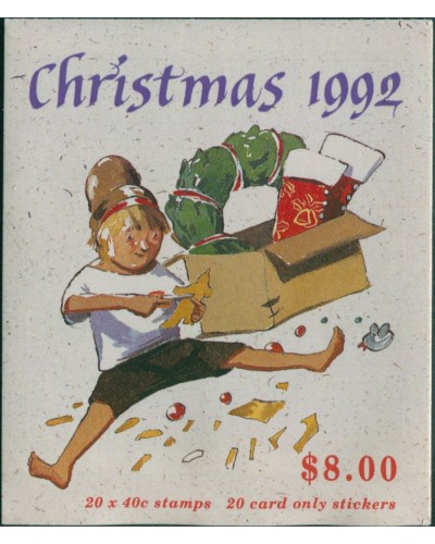 Australia booklet 1992 SG1383 40c Christmas MNH