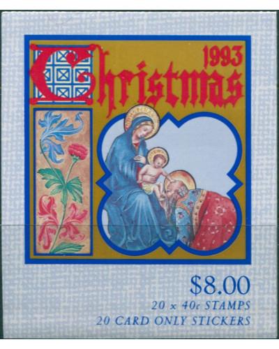 Australia booklet 1993 SG1432 40c Christmas MNH