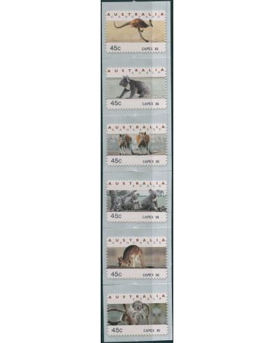 Australia CPS Kangaroos and Koalas CAPEX 96 diecut set MNH