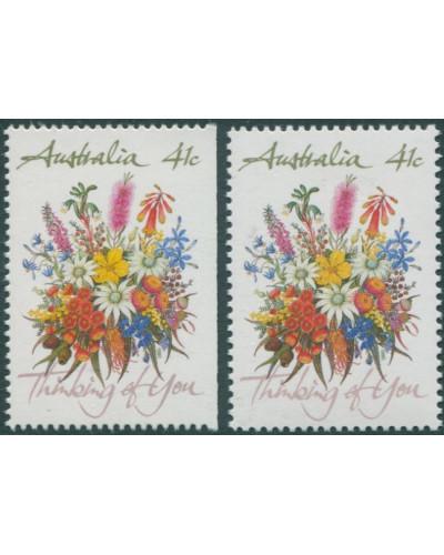 Australia 1990 SG1230 41c Wildflowers both MNH