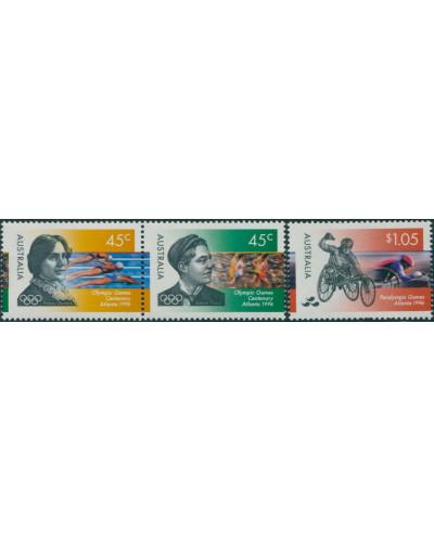 Australia 1996 SG1627-1629 Olympics Paralympics set MNH