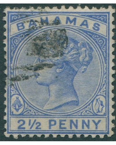 Bahamas 1884 SG52 2½d blue QV FU