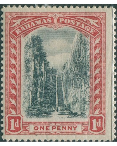 Bahamas 1901 SG58 1d black and red Queen's Staircase Nassau wmk crown CC MH