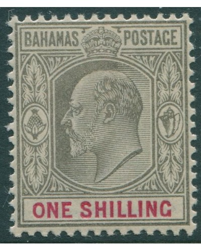Bahamas 1902 SG67 1/- black and red KEVII MH