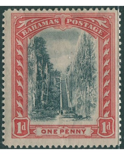 Bahamas 1901 SG75 1d black and red Queen's Staircase Nassau wmk mult crown CA MH