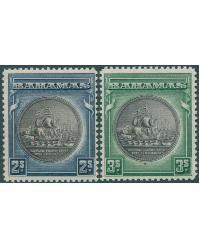 Bahamas 1931 SG131b-132b no dates at top MNH