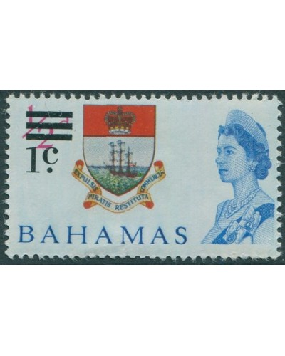 Bahamas 1966 SG273 1c on ½d Arms QEII MNH