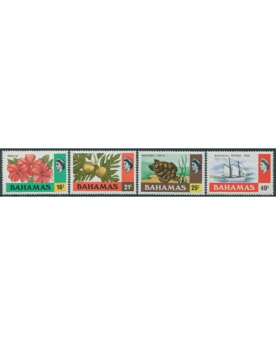 Bahamas 1976 SG466-469 Flowers Fruit Ship QEII MNH