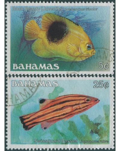 Bahamas 1986 SG758A-762A Fish (2) FU
