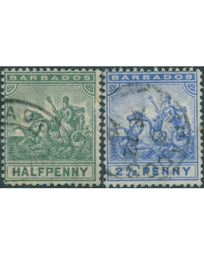 Barbados 1892 SG106-139 Seal of Colony FU