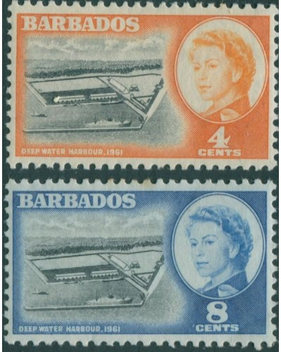Barbados 1961 SG306-307 Deep Water Harbour MLH
