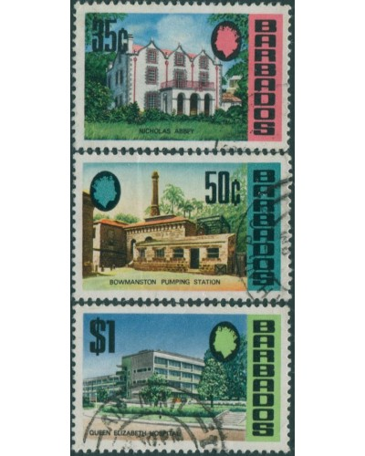 Barbados 1970 SG410-412 Buildings FU