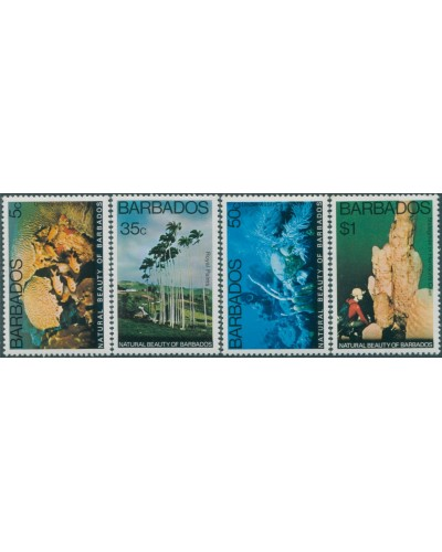 Barbados 1977 SG577-580 Natural Beauty set MNH
