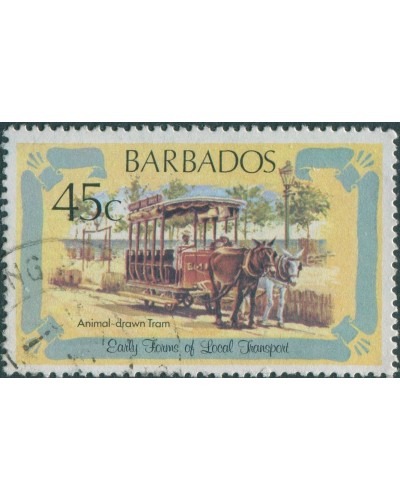 Barbados 1981 SG667 45c Animal-drawn Tram FU