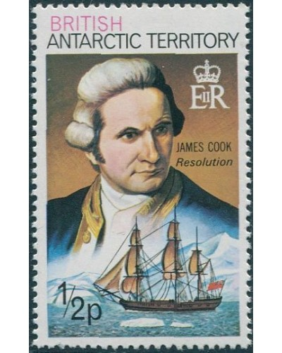 British Antarctic Territory 1973 SG64a ½p Cook Resolution MNH