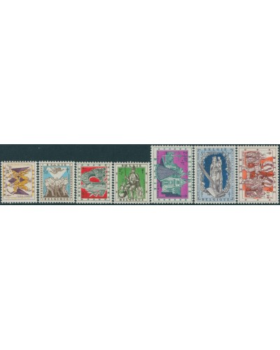 Belgium 1957 SG1628-1634 Provincial Legends set MNH