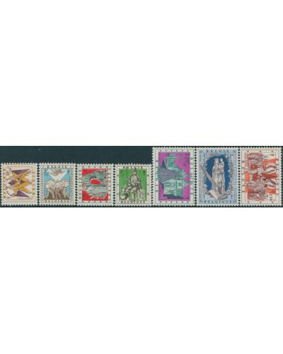 Belgium 1957 SG1628-1634 Provincial Legends set MNH