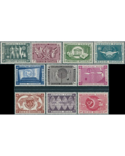 Belgium 1958 SG1642-1651 United Nations MNH