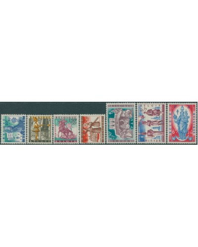 Belgium 1958 SG1667-1673 Provincial Legends set MNH