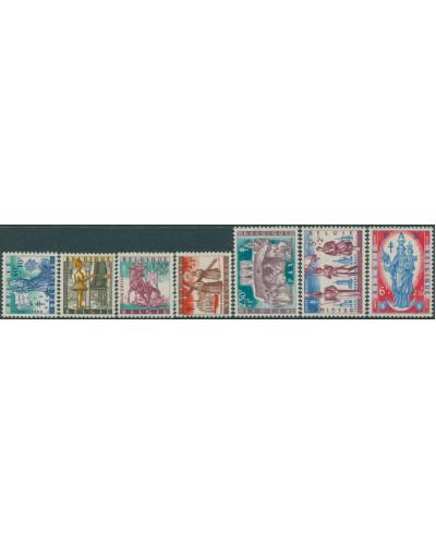 Belgium 1958 SG1667-1673 Provincial Legends set MNH