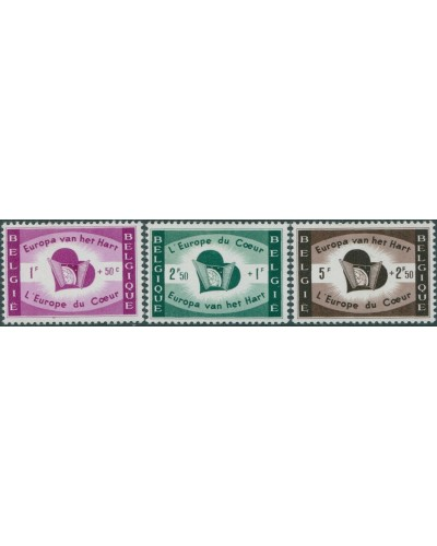 Belgium 1959 SG1675-1677 Heart of Europe set MNH