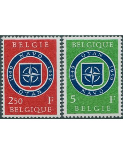 Belgium 1959 SG1681-1682 NATO set MNH