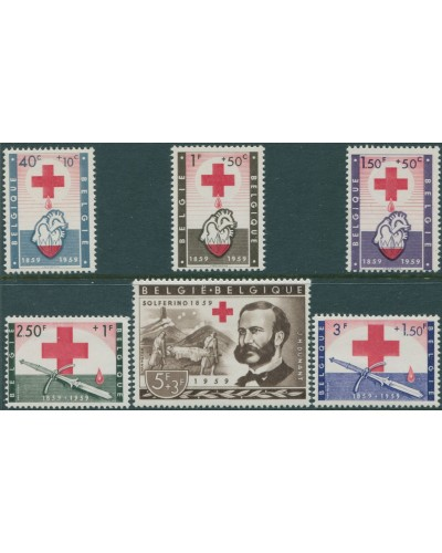 Belgium 1959 SG1683-1688 Red Cross set MNH