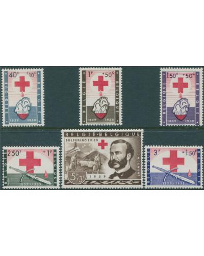 Belgium 1959 SG1683-1688 Red Cross set MNH