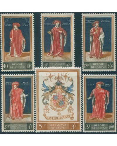 Belgium 1959 SG1689-1694 Royal Library Fund set MNH