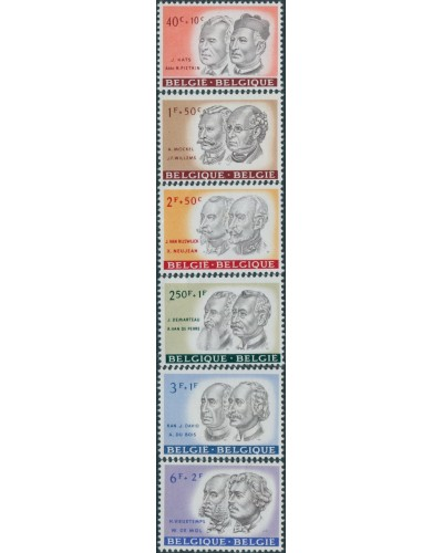 Belgium 1961 SG1772-1777 Cultural Funds Porraits set MNH