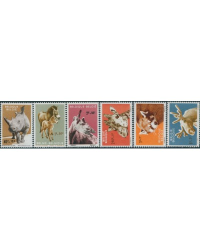 Belgium 1961 SG1778-1783 Animals of Antwerp Zoo set MNH