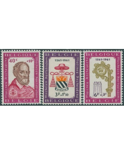Belgium 1961 SG1784-1786 Archbishopric of Malines set MNH