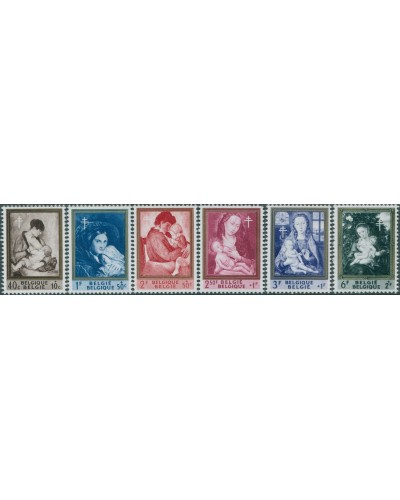 Belgium 1961 SG1798-1803 Paintings of mothers and children set MNH