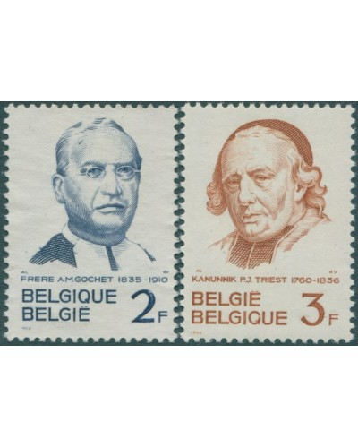 Belgium 1962 SG1814-1815 Gochet and Triest set MNH