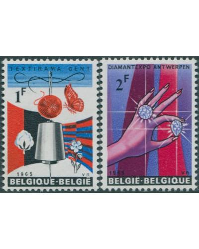 Belgium 1965 SG1914-1915 Diamonds and Textiles MNH