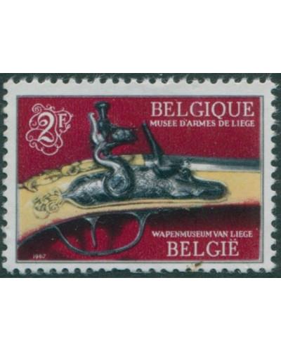 Belgium 1967 SG2006 2f part of Cleuter Pistol MNH