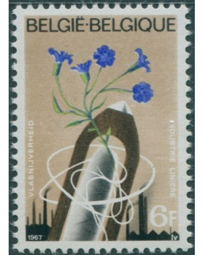 Belgium 1967 SG2015 6f Flax Plant and Shuttle MNH