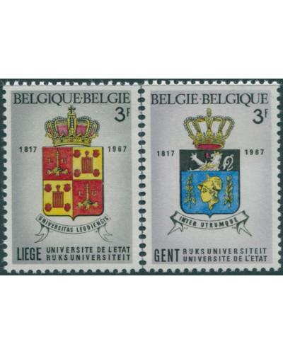 Belgium 1967 SG2036-2037 University Arms set MNH