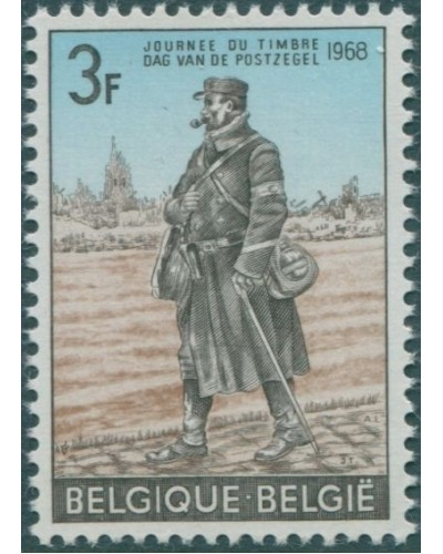 Belgium 1968 SG2068 3f Stamp Day army postman MNH