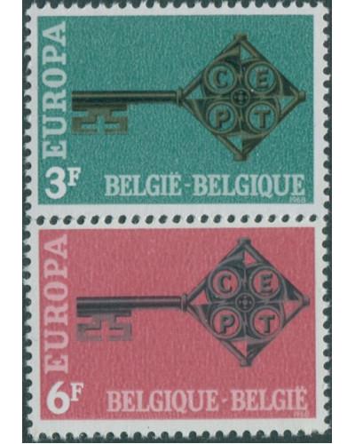 Belgium 1968 SG2074-2075 Europa set MNH