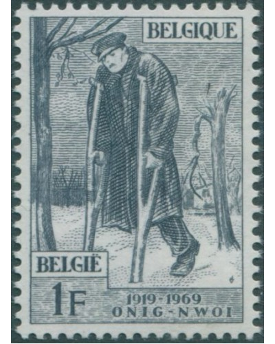 Belgium 1969 SG2130 1f Wounded Soldier MNH