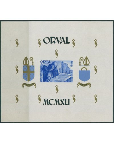 Belgium 1941 SG947 Orval Abbey Restoration Fund MS MNH