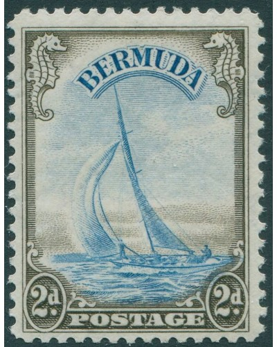Bermuda 1936 SG101 2d black and blue Yacht lucie MLH